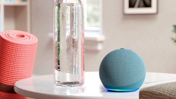 Echo Dot Smart speaker with clock